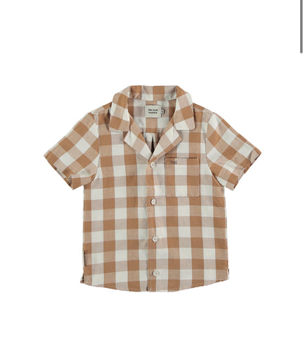 The New Society Camel Check Olivier Shirt