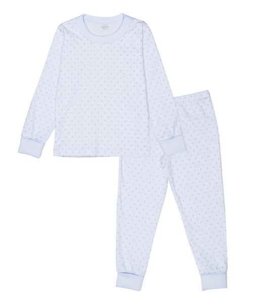 Livly Stockholm Saturday Blue Grey Dot PJ Set