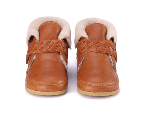 Donsje Amsterdam Jess Lining Cognac Leather Kid Shoe