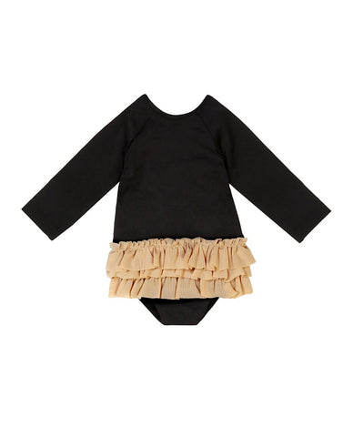 Little Creative Factory Black Long-Sleeved Baby Degas Swimsuit