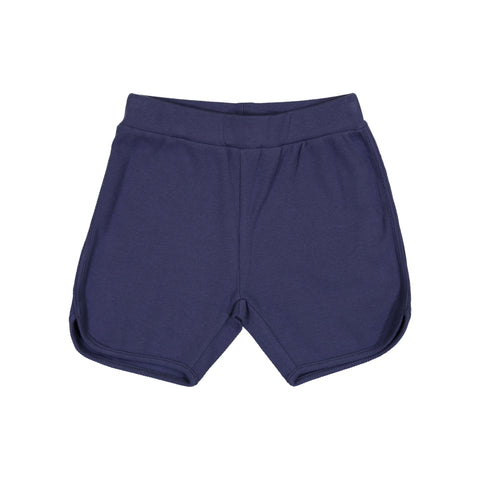 Coco Blanc Blue Ribbed Shorts