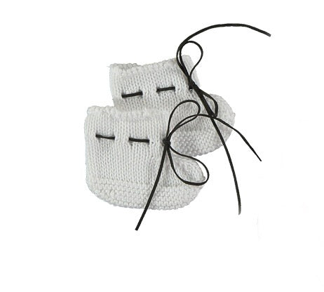 Pequeno Tocon White Knit Booties