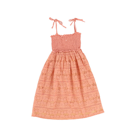 Tocoto Vintage Pink Lace Midi Dress