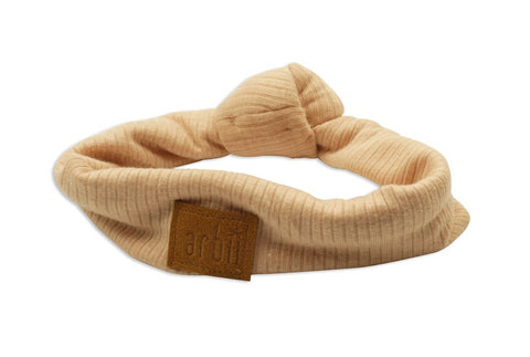 Arbii  Peach ribbed Turban Band