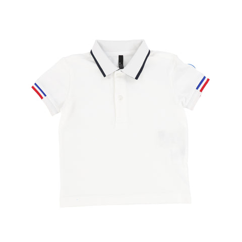 Colmar White & Navy Trim Polo