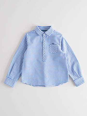 Nanos Blue Checked Shirt