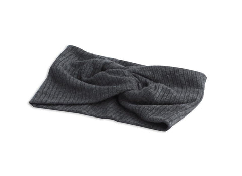 Arbii Charcoal Twisted Ribbed Turban Band