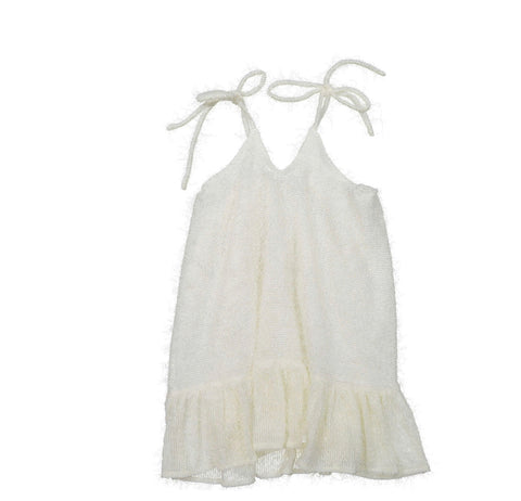 You And Me Ecru Fringed Dress