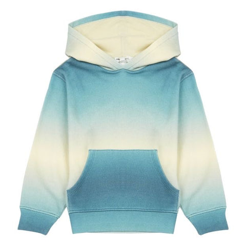 Hundred Pieces Blue Gradient Organic Cotton Hoodie