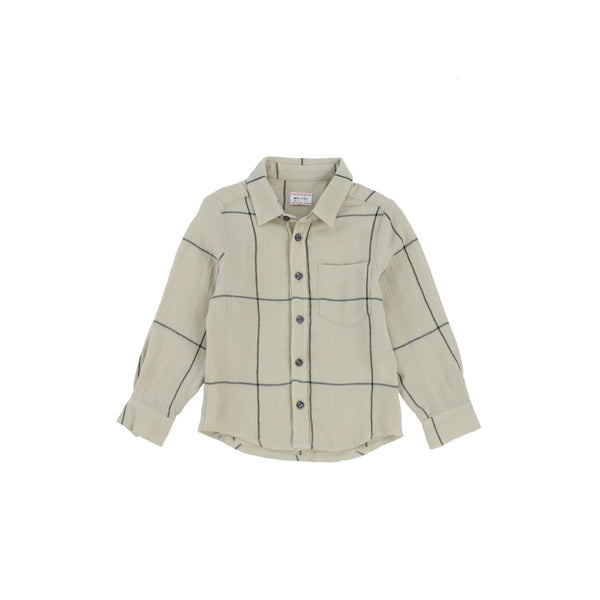 Morley Checked Beige Boy Shirt
