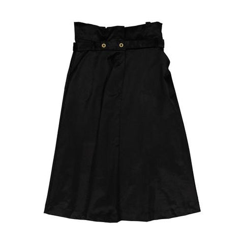 You and Me Black Velvet Skirt