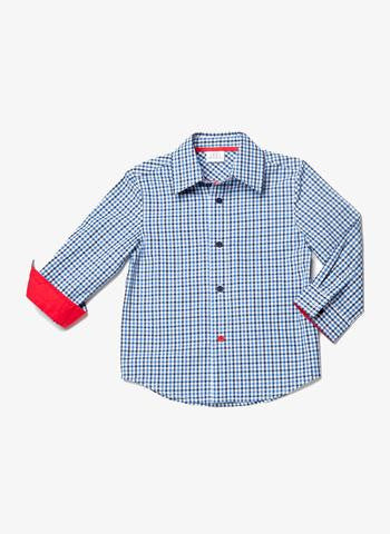 Egg Baby Long Sleeve Boys Woven Shirt