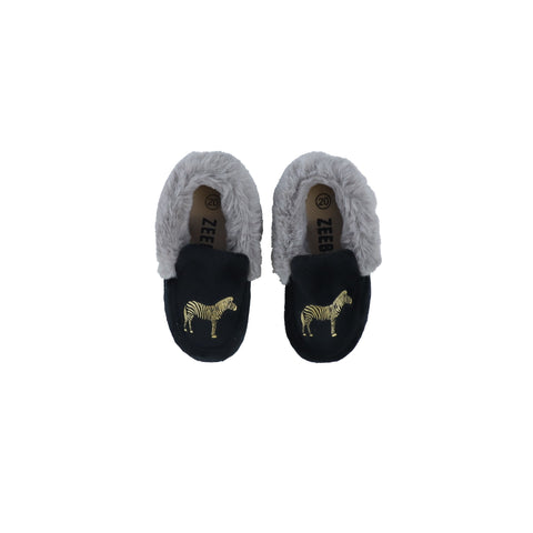 Zeebra Fur Logo Slippers