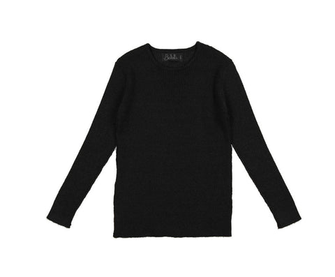 Belati Black Basic Rib Top