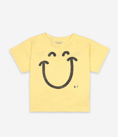 Bobo Choses Yellow Big Smile Lilas Short Sleeve Tshirt