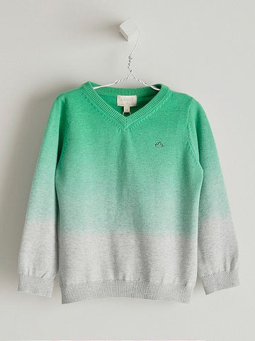 Nanos Green Dye V-Neck Sweater