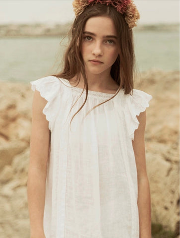 The New Society White Lace Embroidered Alice Dress