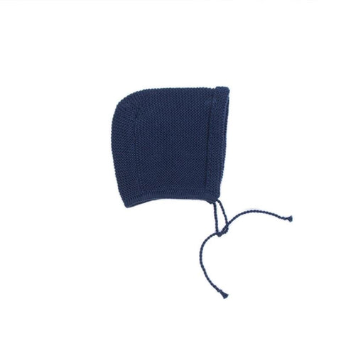Oeuf Blue Knit Bonnet