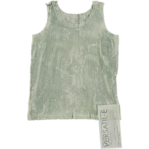 Versatile Textura Green Ribbed Tank Top