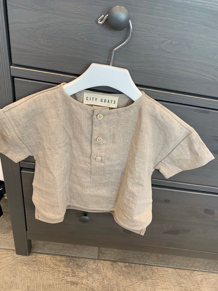 City Goats Organic Linen City Fun Top