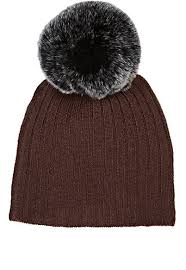 Belle Enfant Berry Fur Pompom Hat