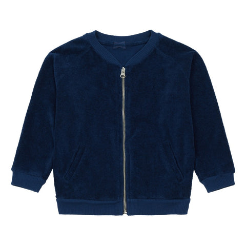 Morley Night Blue Terry Teddy Zip Up