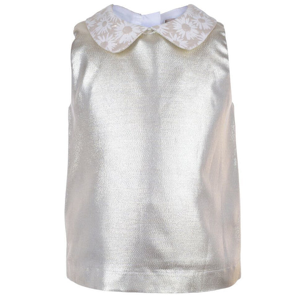 Hucklebones Metallic Contrast Shell Top