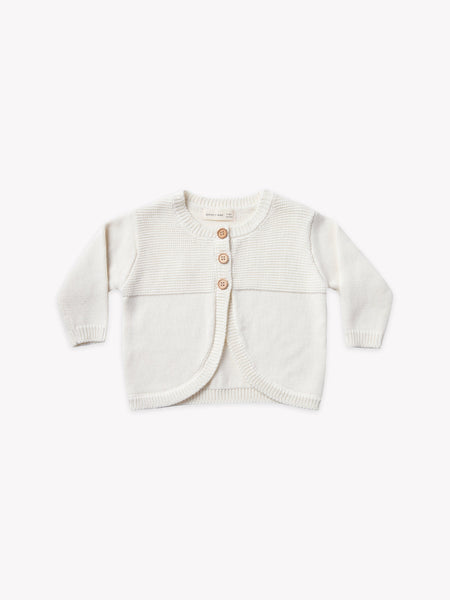 Quincy Mae Ivory Knit Cardigan