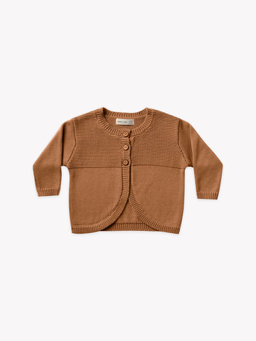 Quincy Mae Walnut Knit Cardigan