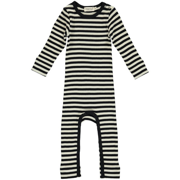 MarMar Copenhagen Black & Off White Romper Stripes