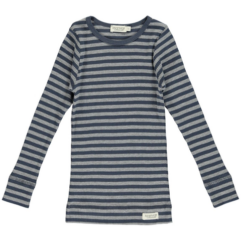 MarMar Copenhagen Blue & Grey Stripe PJ Set
