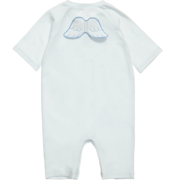 Marie Chantal Angel Wing 3/4 Sleeve / Leg Onesie Blue