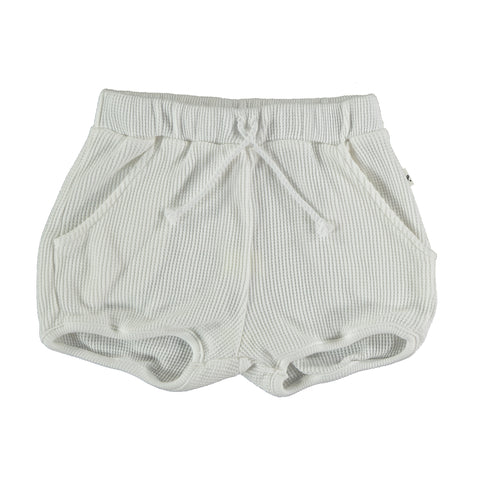 My Little Cozmo White Waffle Kids Shorts