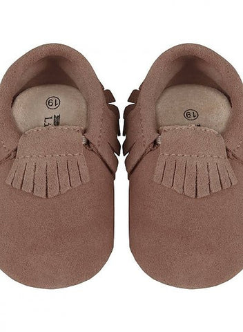 Little Indians Moccasins Suede Taupe