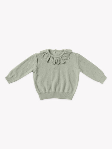 Quincy Mae Sage Knit Sweater + Bloomer Set