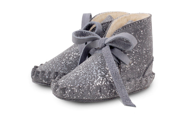 Donsje Amsterdam Pina Booties Grey Metallic