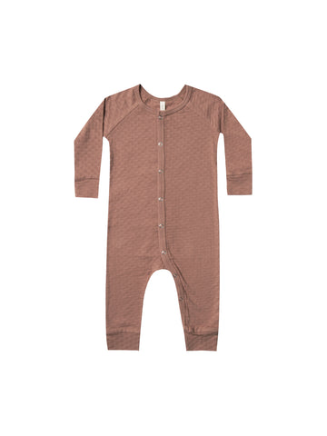 Quincy Mae Clay Pointelle Jumpsuit