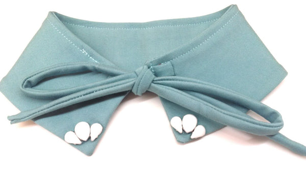 Halo Luxe Embellished Pixie Collar Sea Foam Blue
