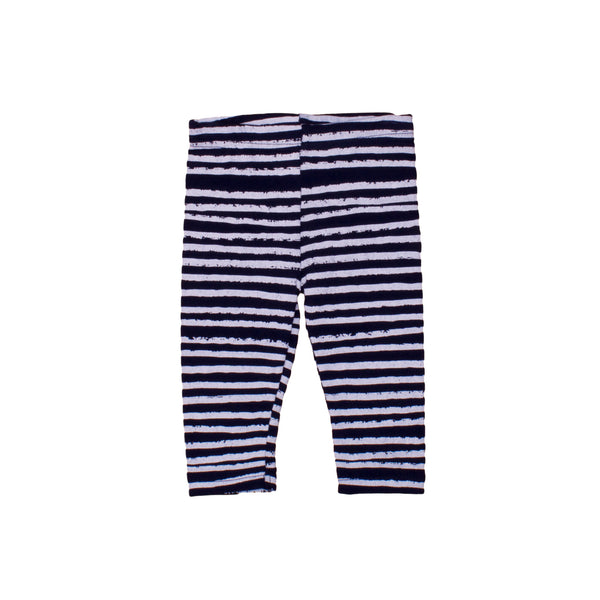 Noe & Zoe Blue Leggings White Stripe