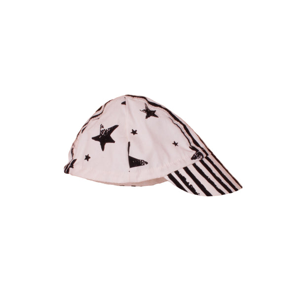 Noe & Zoe Black Stripes and Stars Cap