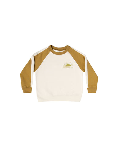 Rylee & Cru Goldenrod You're Golden Raglan Sweatshirt