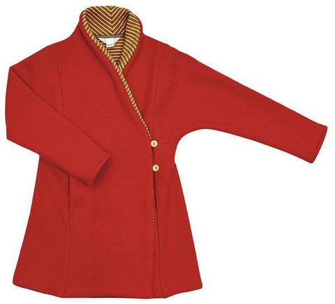 Macarons Coat Coco Tulip Red/ Honey Striped