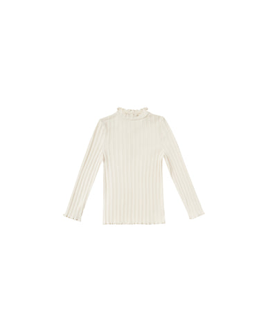 Rylee & Cru Natural Ribbed Long sleeve Tee
