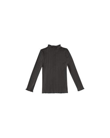 Rylee & Cru Vintage Black Ribbed Long sleeve Tee