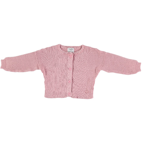 Tocoto Vintage Pink Ribbed Knitted Cardigan