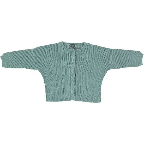 Tocoto Vintage Green Ribbed Knitted Cardigan