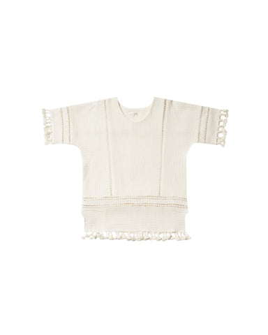 Rylee & Cru Ivory Tassel Cover Up