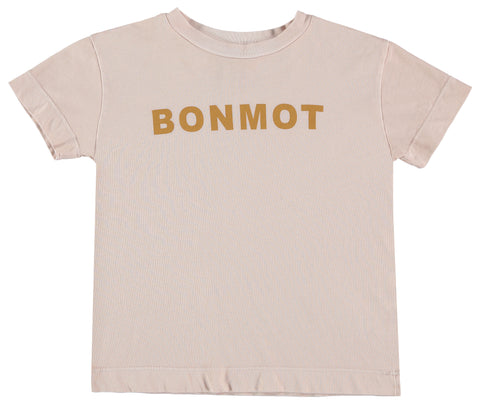 Bonmot Light Rose Logo Short Sleeve Tee