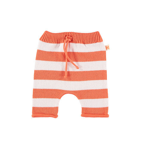 Tinycottons Striped Knit Pants Orange & Pink