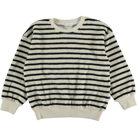 My Little Cozmo Navy Stripe Kids Terry Sweatshirt
